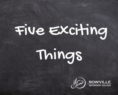 five exciting things